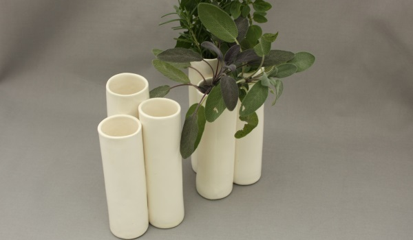 Three-part vases