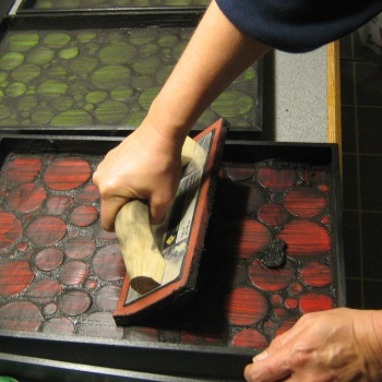 Grouting circle trays