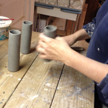 Making three part vases