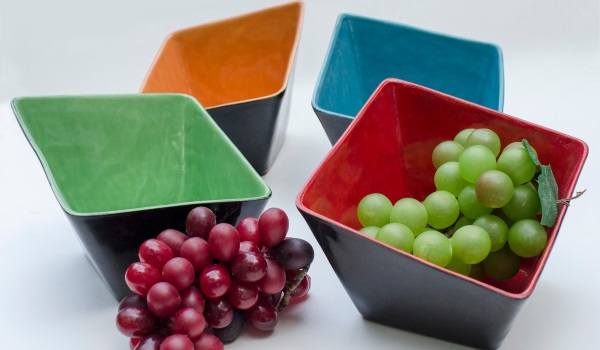 Square Slant Bowls